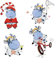 Happy cows Clip-Art Cartoon vector image vector image