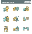 Icons line set premium quality of car repair vector image