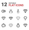 jewel icons vector image vector image