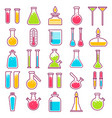 laboratory glass vials and chemical tests vector image vector image