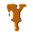 Letter Y from caramel icon vector image