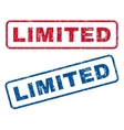 Limited Rubber Stamps vector image vector image