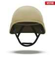 Military tactical helmet desert color vector image vector image