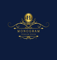 Monogram design elements graceful template vector image vector image