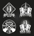 music festival banners set rock fest vector image