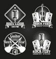 music festival banners set rock music fest vector image