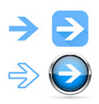 next signs blue buttons and icons vector image