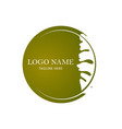 oak leaf logo design template vector image vector image
