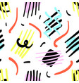 pattern 80s style vector image