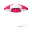 Pink sun beach umbrella isolated on white vector image vector image