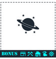 planet icon flat vector image vector image