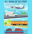 post delivery service freight transport vector image vector image