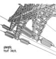 Power Transmission Line vector image vector image