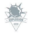 powerful explosion logo simple gray style vector image vector image