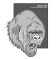 raging gorilla vector image vector image