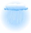 rain cloud on white vector image vector image