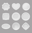 realistic plates of vector image