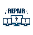 Repair computer vector image
