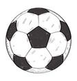 retro soccer ball vector image vector image