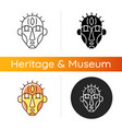 ritual masks icon vector image