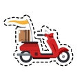scooter motorcycle icon vector image vector image