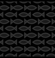 seamless fish pattern on a black background vector image vector image