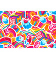 seamless pattern rainbow summertime vector image