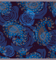 seamless pattern with decorative flowers vector image