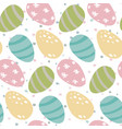 seamless pattern with easter eggs and dot vector image vector image