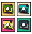 set of unusual look web icon of modern lineart vector image vector image