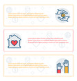 simple banners set charity sponsorshipdonation vector image vector image