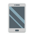 smartphone flat icon phone and touch screen vector image vector image