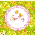 spring flowers spring background vector image vector image