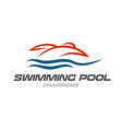 Swimming pool logo template vector image vector image