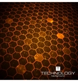Technology background with honeycomb texture vector image vector image