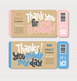 thank you quotes and stickers vector image vector image