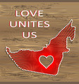 united arab emirates art map with heart