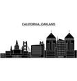 usa california oakland architecture city vector image vector image