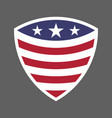 usa flag shield icon logo vector image