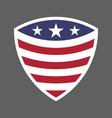 usa flag shield icon logo vector image