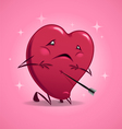 Valentines Day wounded heart vector image