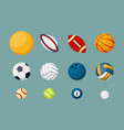 various sports balls flat set vector image vector image