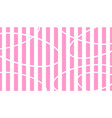 white and pink striped background abstract vector image vector image