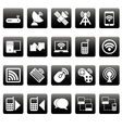 White wireless icons on black squares vector image vector image
