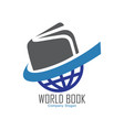 world book logo design vector image vector image