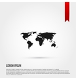 world map icon flat design style template vector image