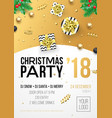 year winter holiday party vector image