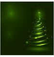 Shining christmas tree the magic christmas tree vector image