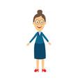 flat cartoon female teacher character vector image