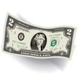 2 Dollar Bill 3d vector image vector image